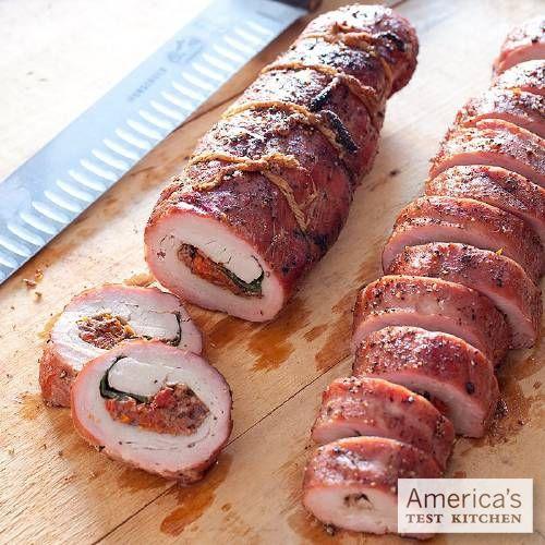 America S Test Kitchen Stuffed Pork Tenderloin