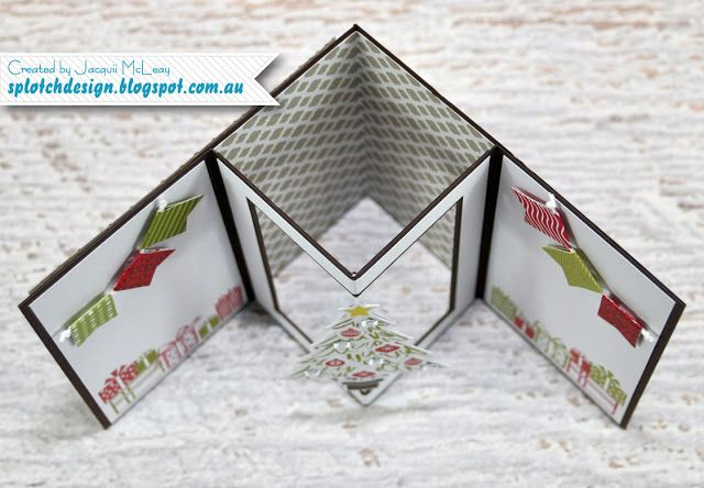 Splotch Design Jacquii Mcleay Independent Stampin Up Demonstrator Spinner Shaker Card Tutorial Shaker Cards Tutorial Fancy Fold Cards Shaker Cards