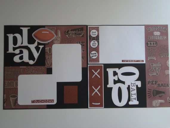 Football 12 X12 Page Kit 2 Page Layout By Tablescrapsbynancy