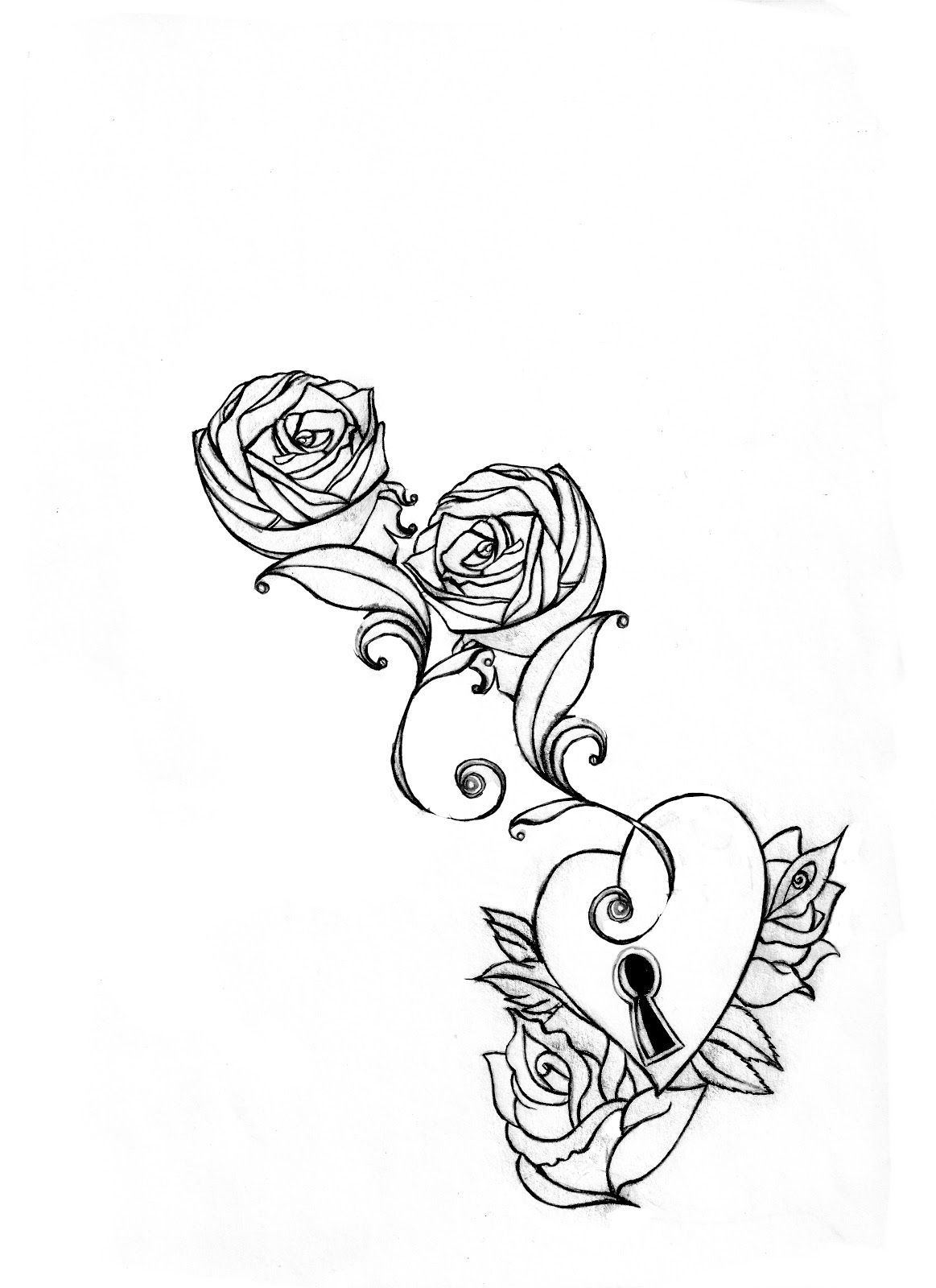 Hearts and Roses Coloring Pages | MARK CHILCOTT: Roses and Hearts ...