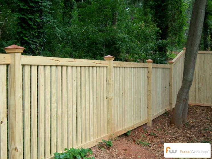 Pin By Fence Workshop On Traditional Picket Fences Wood Picket Fence Fence Design Farm Fence