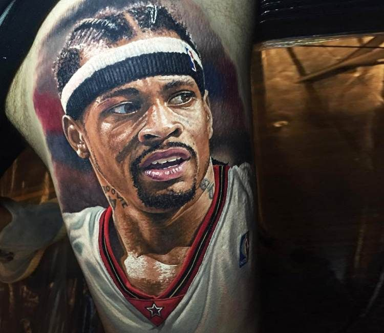 allen iverson tattoo by steve butcher best tattoos pinterest allen iverson tattoos tattoo. Black Bedroom Furniture Sets. Home Design Ideas