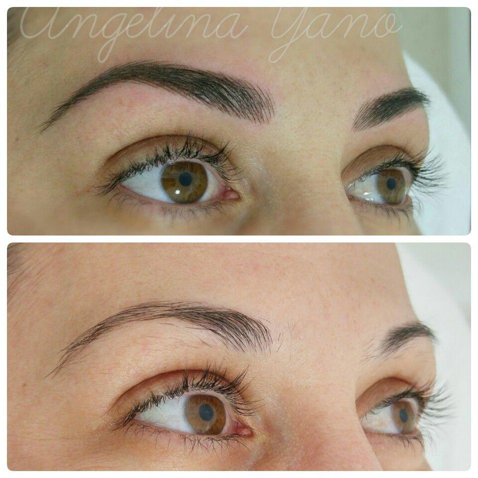 Pmu Hairstroke Eyebrows Arches Pinterest Eyebrows