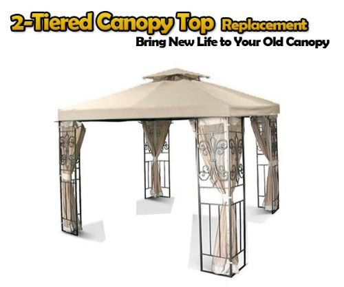 Brand New Mtn Replacement Two Tiered Patio Garden Gazebo Canopy Top 10 X10 Beige By Mtn Ourdoor Canopy Top 47 95 Polyme Steel Gazebo Gazebo Canopy Gazebo