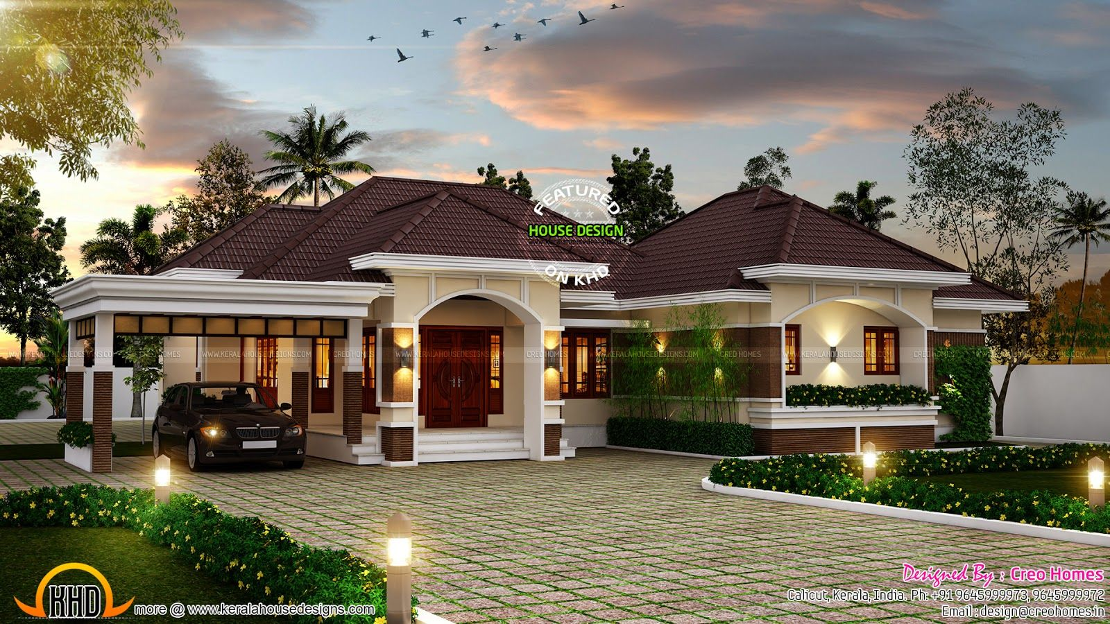 eye catching single storied kerala home designs | ideas for the