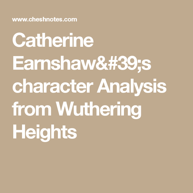 catherine earnshaw character analysis