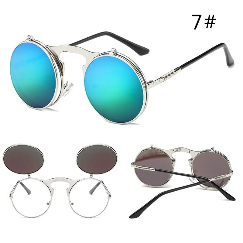 e15c0d428569 Steam Punk Sunglasses Round Design Sunglasses Plain Mirror Retro Men  Women s Glasses Unisex Vintage Sunglasses UV400