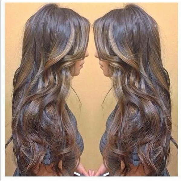 Beautiful Chocolate Hair With Caramel Highlights Subtle Yet Amazing