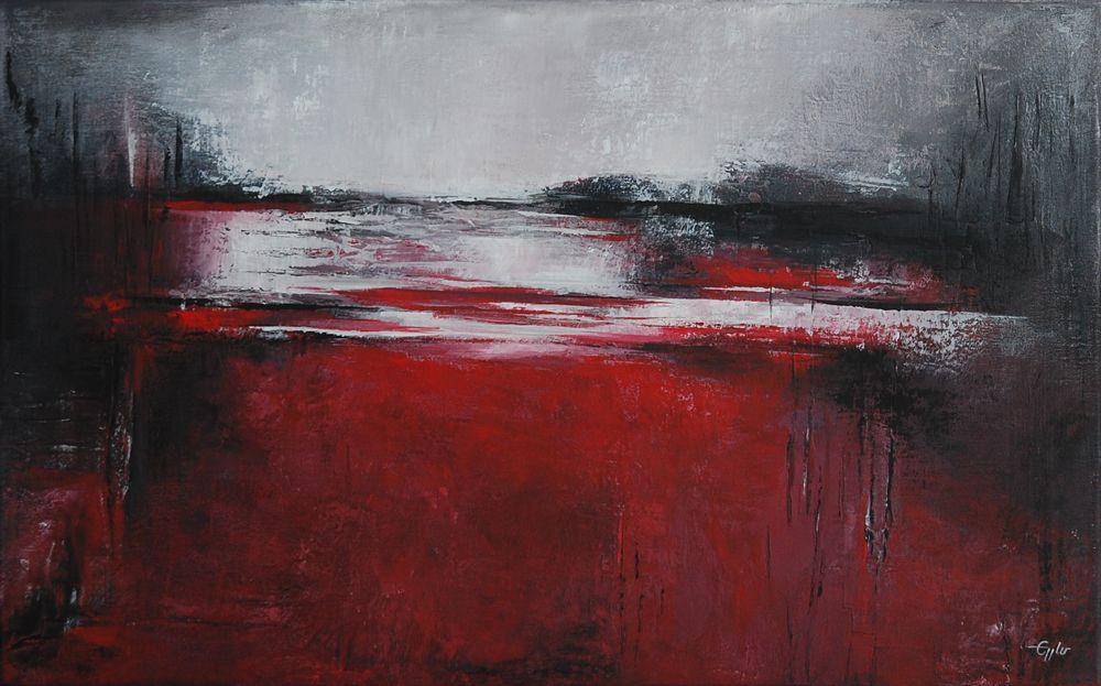 abstract art 8 eppart abstrakte kunst abstrakt malerei rot schwarz etsy