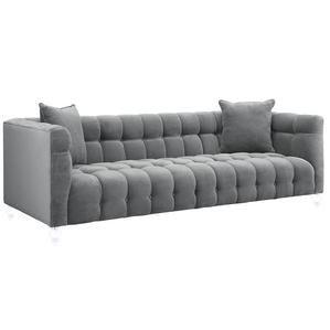 TOV Furniture Bea Grey Velvet Sofa