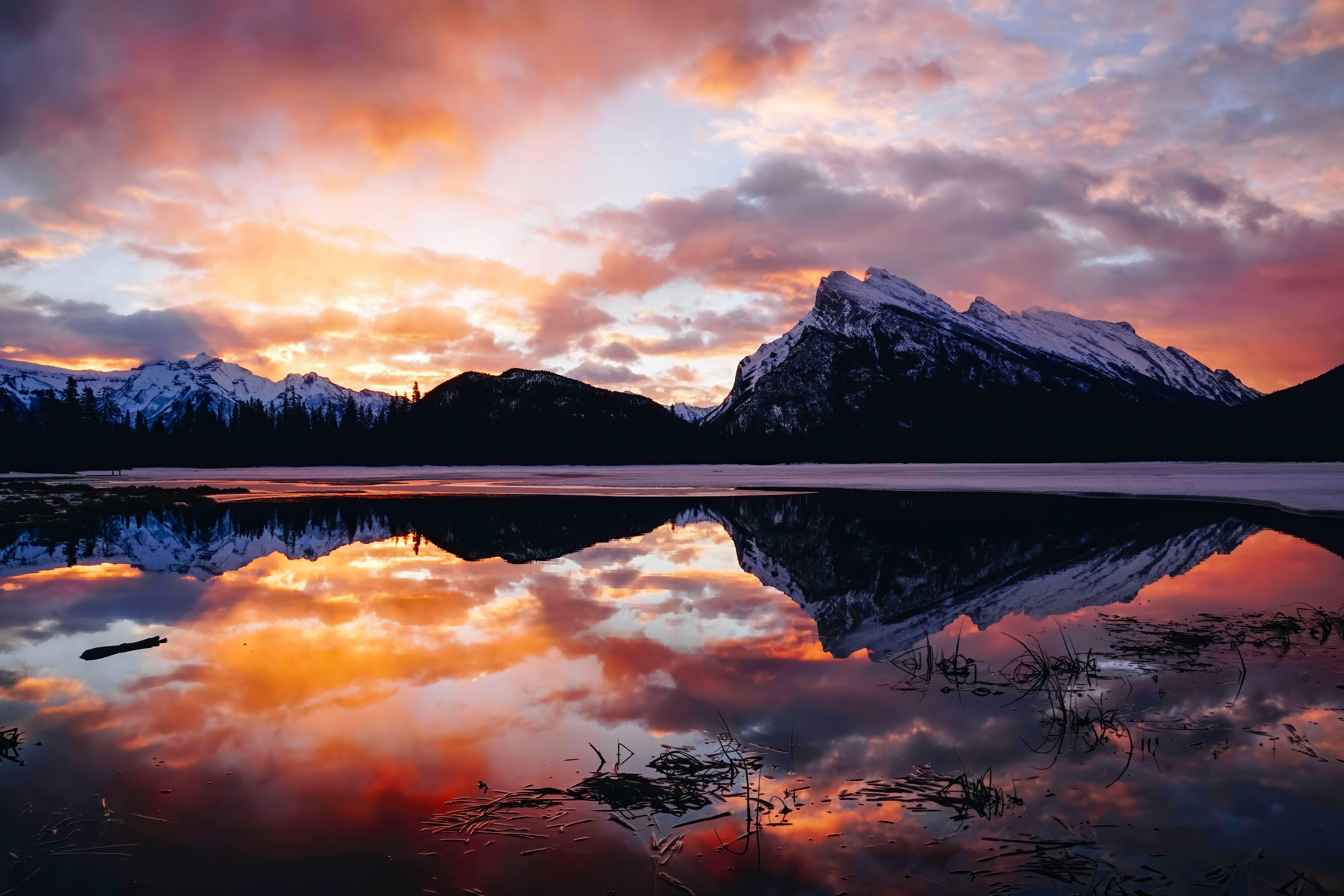 Vermilion Lakes Sunset in Banff National Park