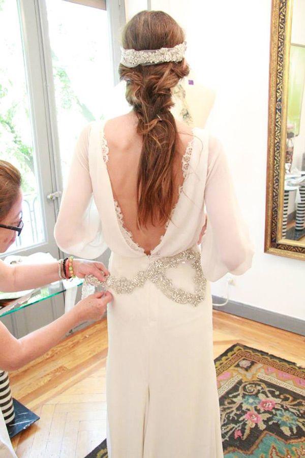 vestido de novia abierto en la espalda. muy sexi.   wedding