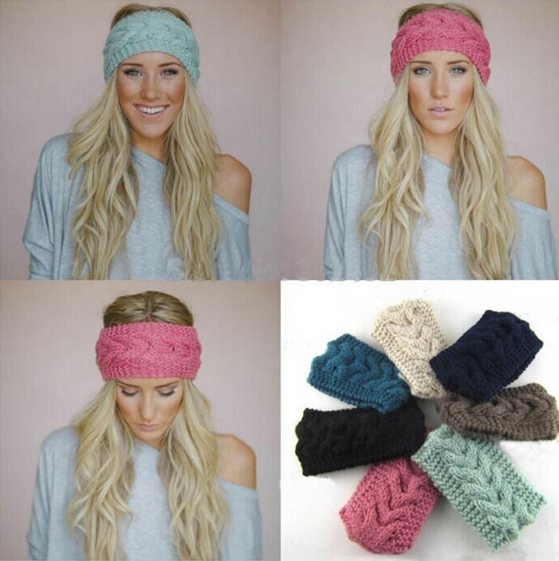 head ear warmer winter crochet knit flower headband wrap girls ladies