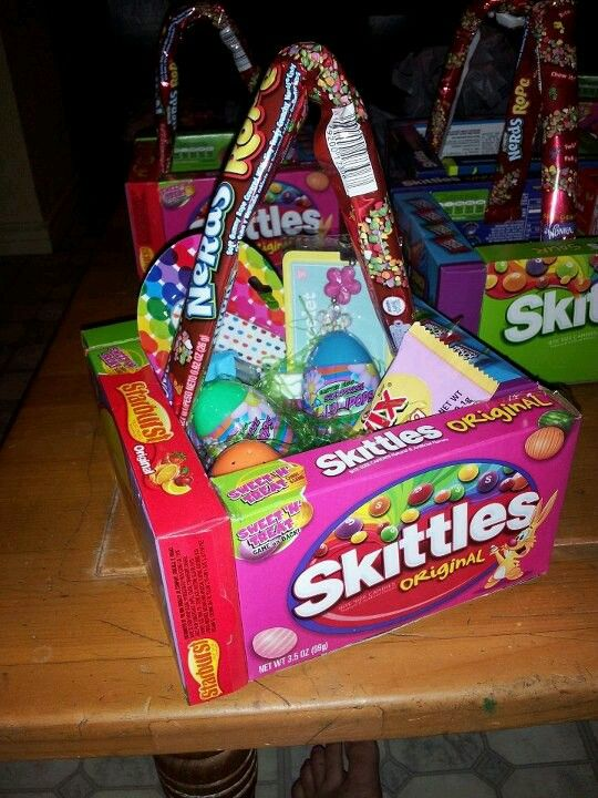 Candy easter baskets paques pinterest easter baskets easter candy easter baskets negle Images
