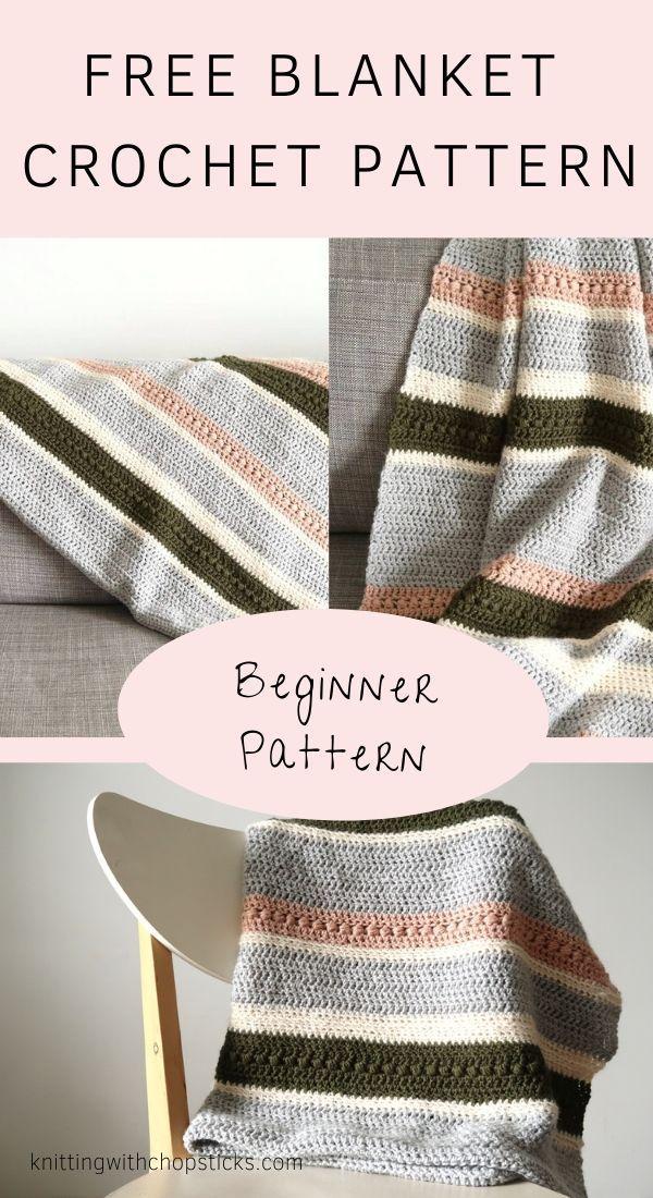 Easy Crochet Blanket Pattern: The Herfst Blanket | Knitting with Chopsticks