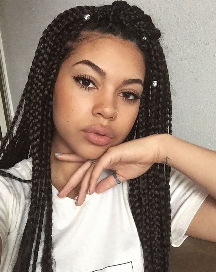 Box Braids Tumblr Hair Styles Box Braids Hairstyles Braided Hairstyles