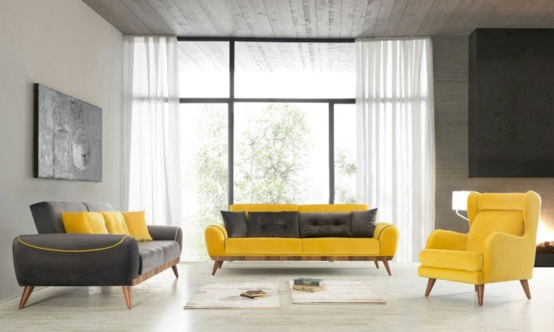 farkli desenlere sahip dekoratif tasarimi ile adela koltuk takimi mekani genis gosteren formuyla ferah ve luks oturma odalari mobilya oturma odasi fikirleri