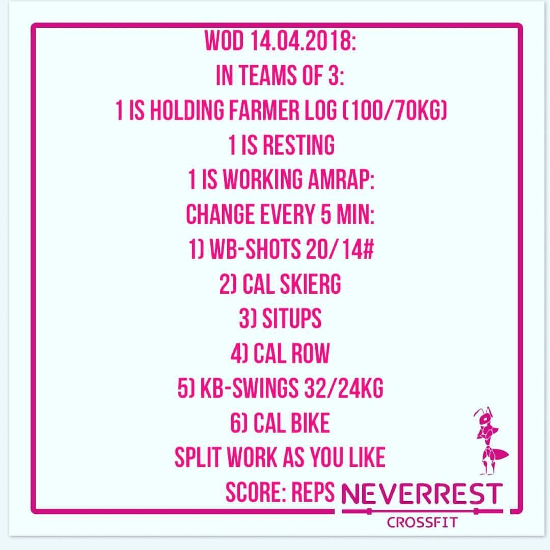 Wod Saturday Teamworkout Farmershold Wallballs Skierg Situps