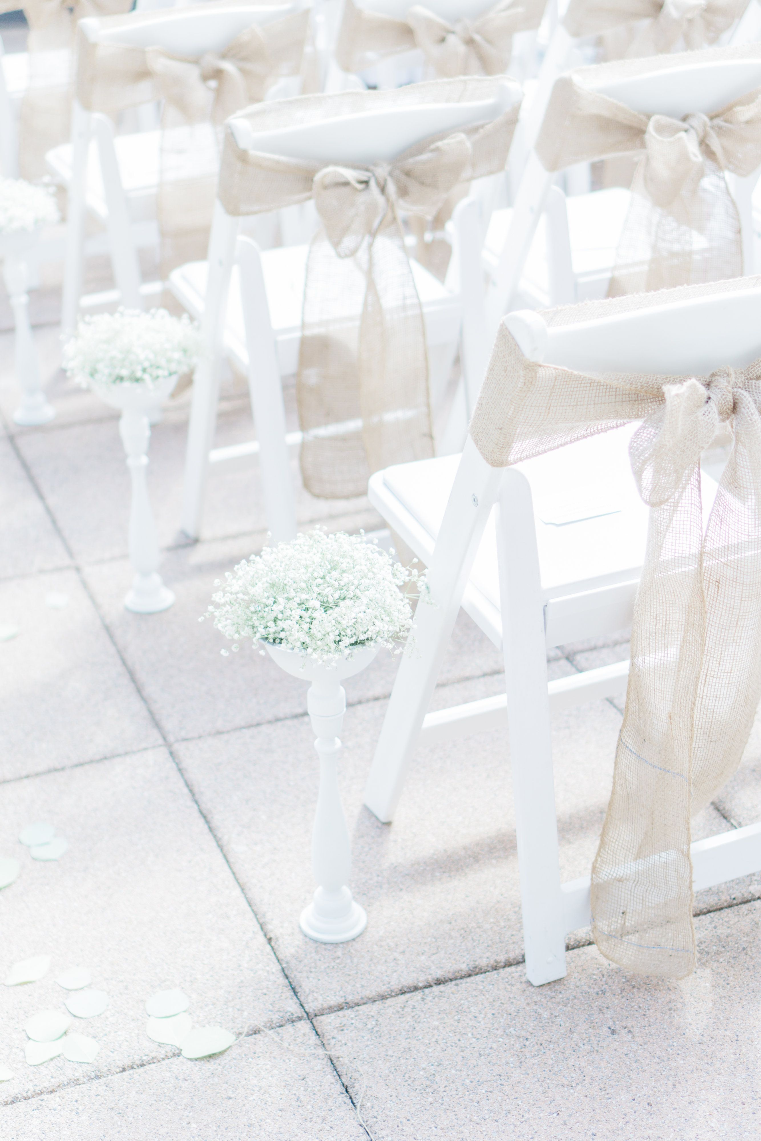 Rustic Ceremony set up on our outdoor terrace   Vancouver ...