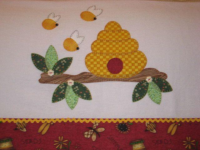 Cozinha   artesanato   Pinterest   Bienen und Patchwork