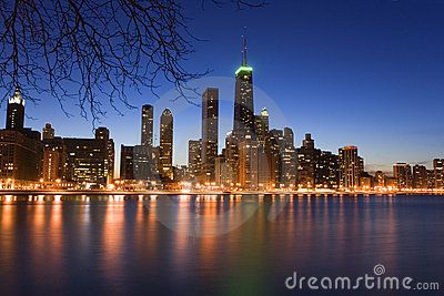 Chicago Skyline images for sale through Dreamstime