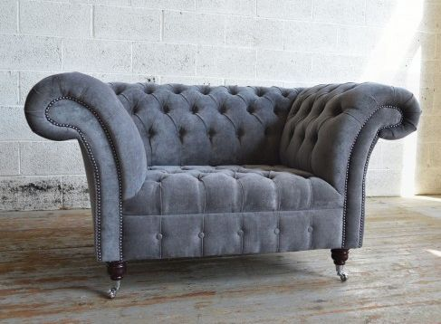 Genial Slate Grey Snuggle Chair