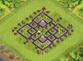 bisqchick 1 th 7 clash of clans base layout