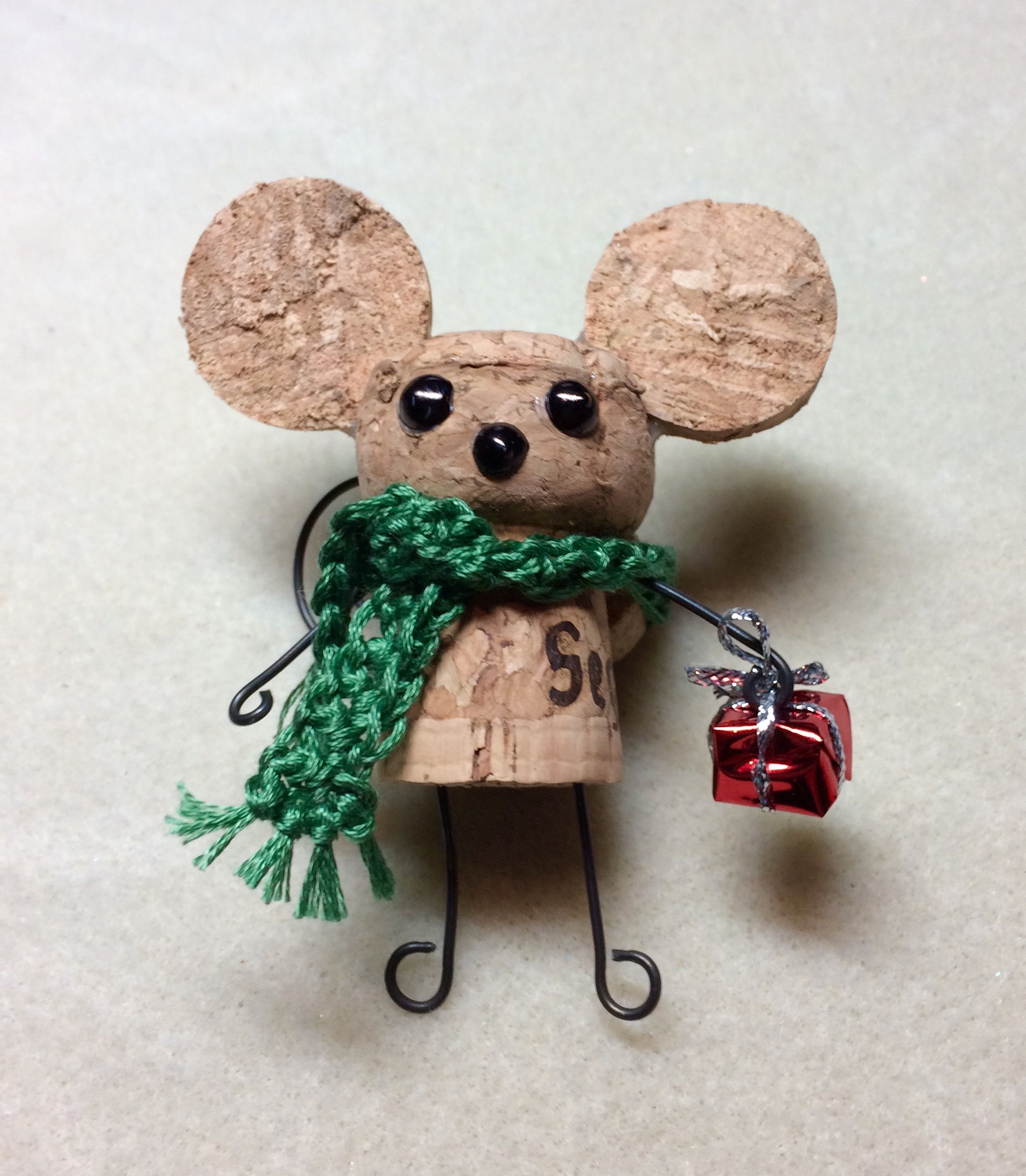 our version of the cork mouse for our holiday bazaar used a champagne cork