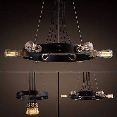 Nuova Retrò Loft Vintage Lampadari Moderni da Cucina Lampade Design Sospensione