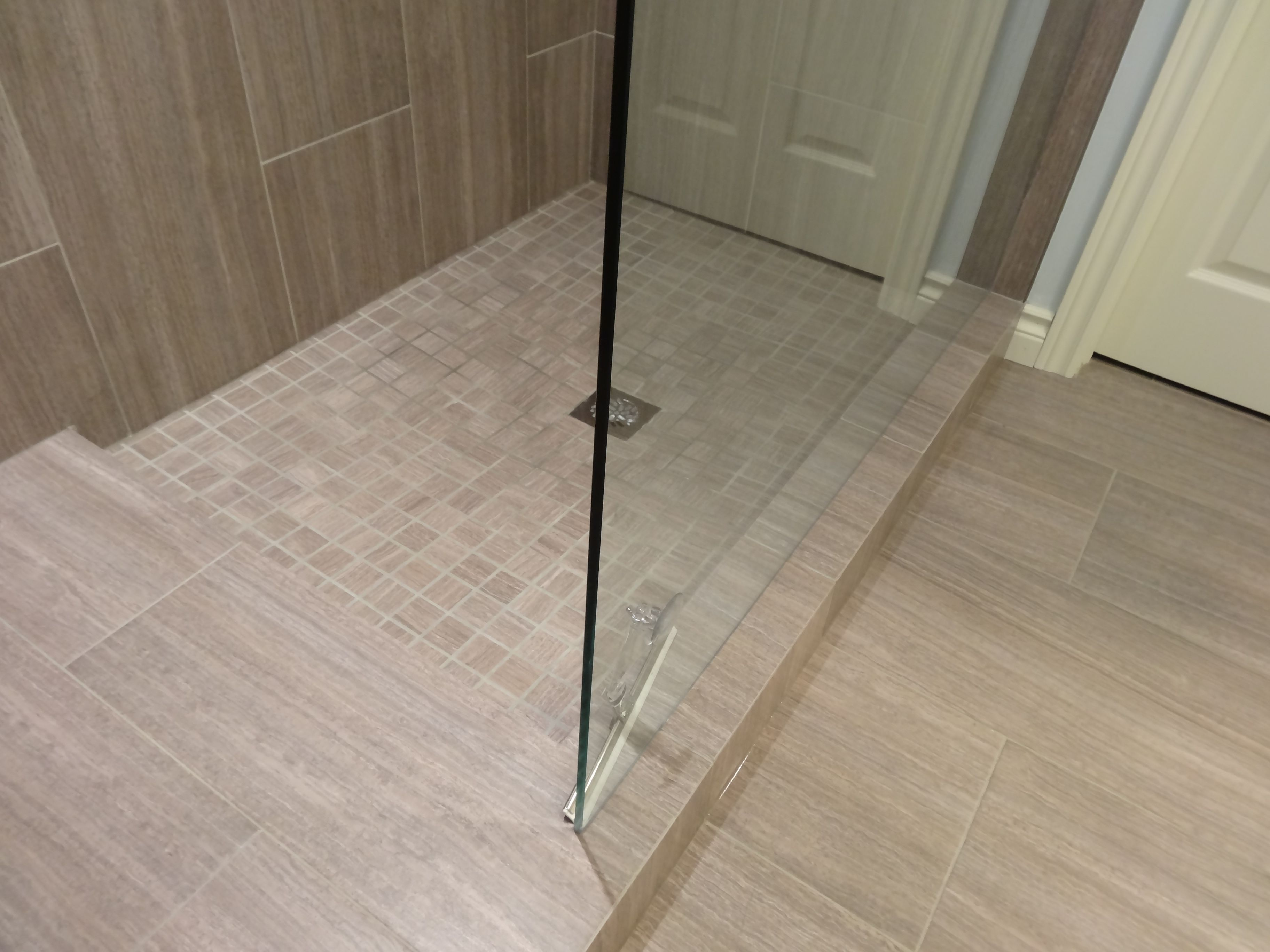 custom shower doorless shower glass wall custom shower base with custom shower doorless shower glass wall custom shower base with platform mitred tile