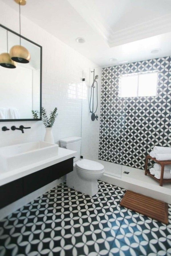 Machen Sie Das Beste Aus Ihrer Badezimmer Einrichtung In Schwarz Weiß |  Bathroom Interior, Bathroom Inspiration And Bath