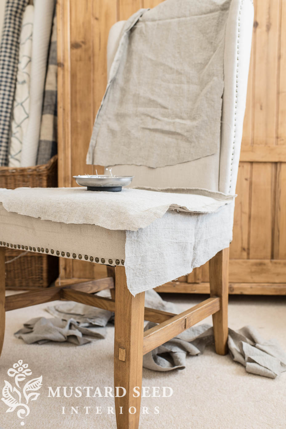 Parsons Chair Slipcover Tutorial Part 1 Miss Mustard