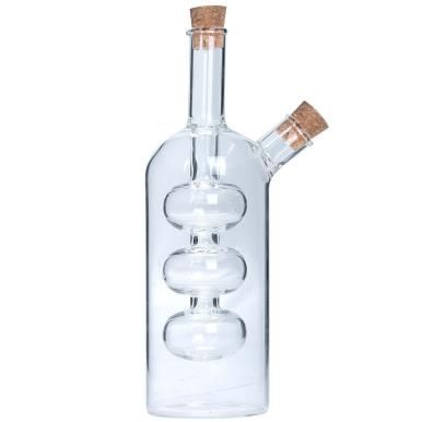 The 2 In 1 Oil And Vinegar Dispenser Gives You Most Important Salad Dressing Ings One Bottle Filling Inner With Dark Balsamic
