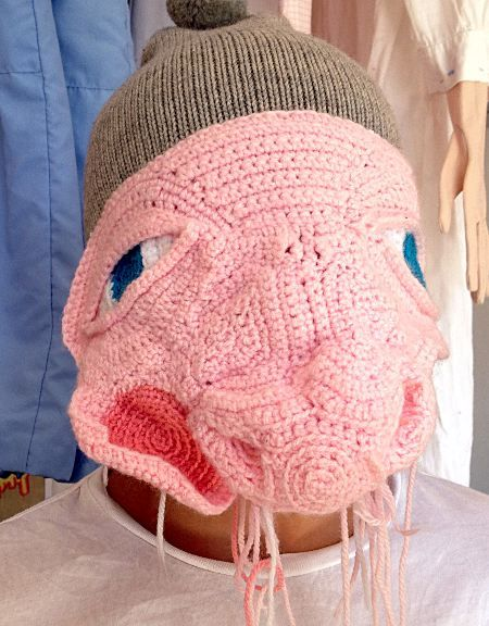 Hæklet ansigt - crochet