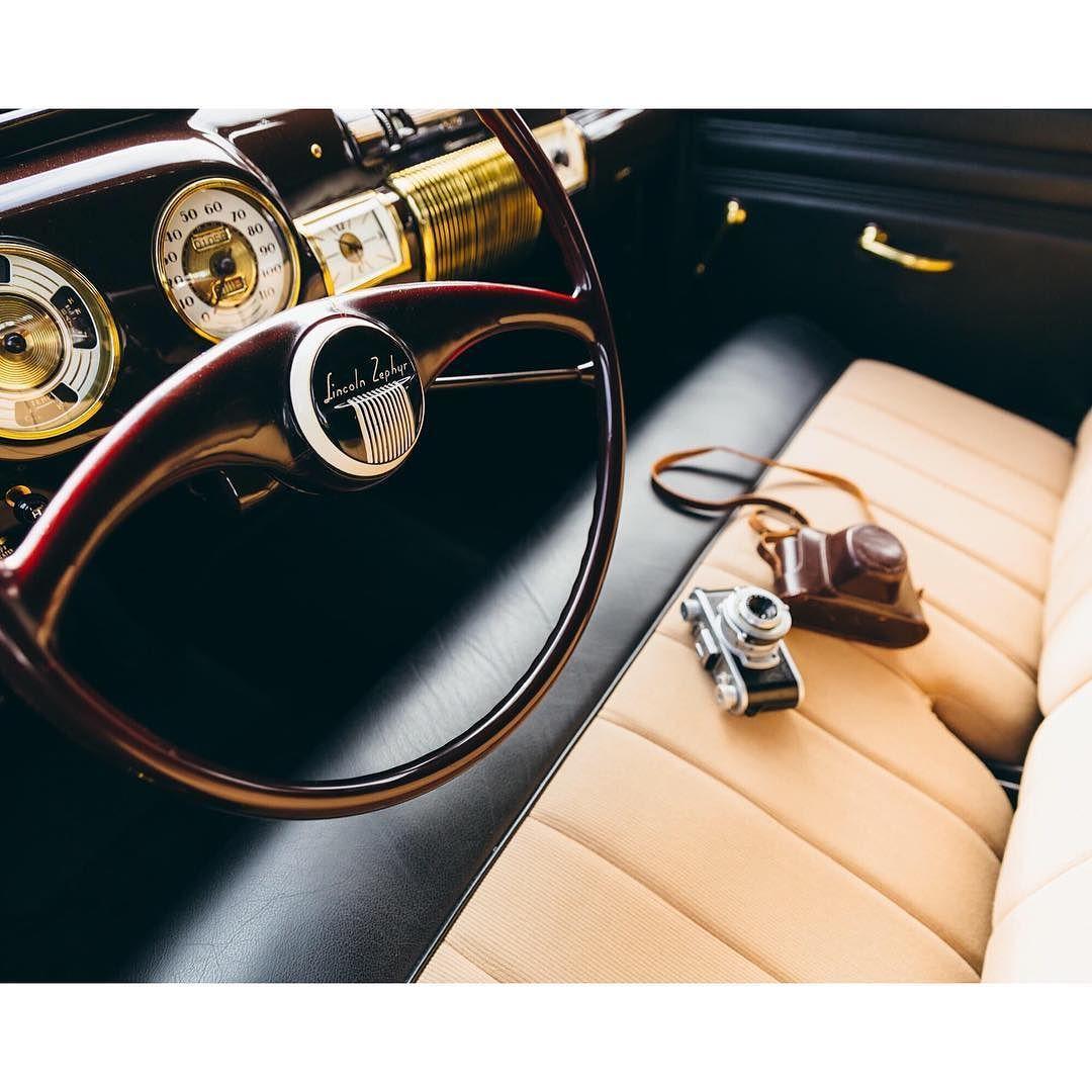 Elliot Jones' 1940 Lincoln Zephyr-Continental Cabriolet shot by @chrisozer.