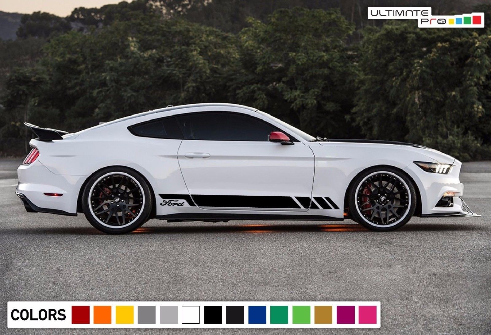 Sticker Decal Vinyl Side Door Stripes For Ford Mustang 2015 2018 Gt350r Louver Ebay Ford Mustang Ford Mustang Car 2015 Ford Mustang [ 1092 x 1600 Pixel ]