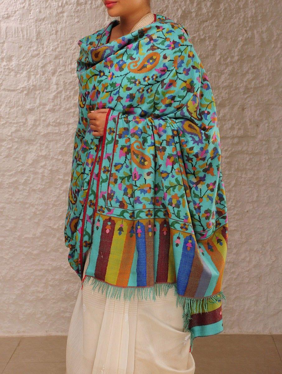Buy Online At Jaypore Com Fashion Kashmiri Shawls Handwoven Shawls