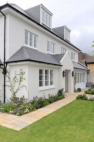 Unusual Exterior For A London Home Old Art Deco Now Looking Magnificent Http Www Shandonproperty House Paint Exterior Facade House Home Exterior Makeover