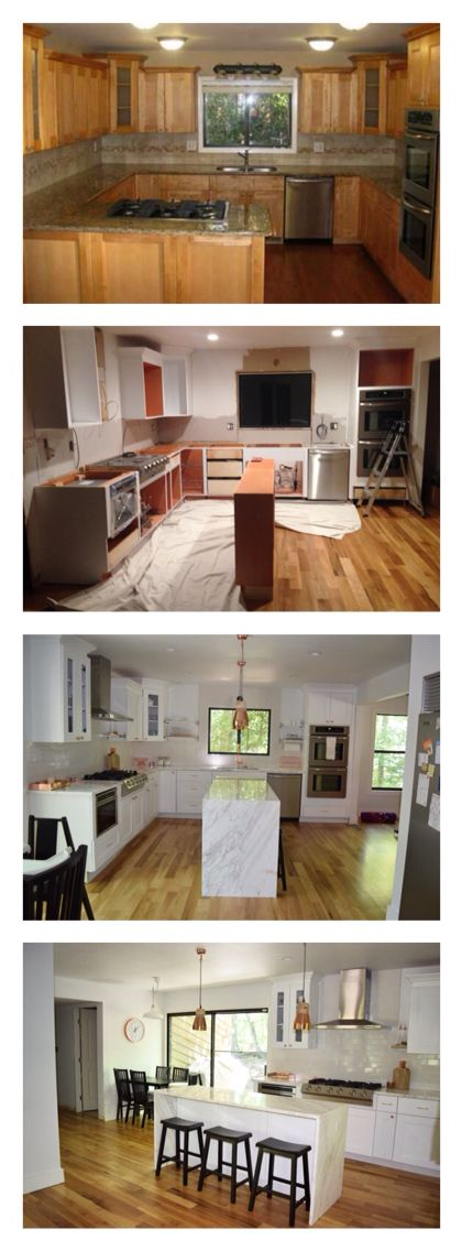 Open concept total kitchen remodel, on a budget Reconfigured