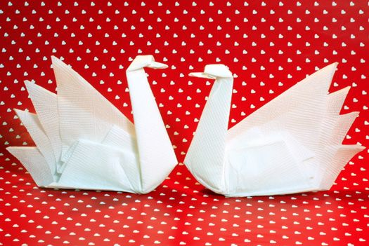 Napkin Folding - Swan
