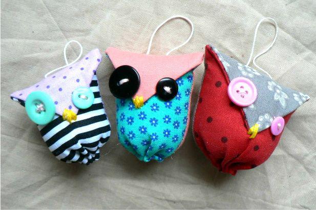 Ain T That The Berries Diy Owl Plush Ornaments Plush Craft