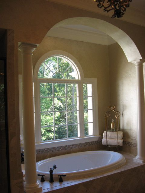 Archway In Front Of Arched Window Over Tub Dream