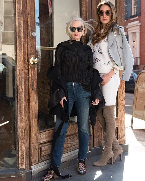 NYC girls are cool. @girlonfifth #AgeIsNotAVariable #nyc #manhattan #jeans #sunglasses