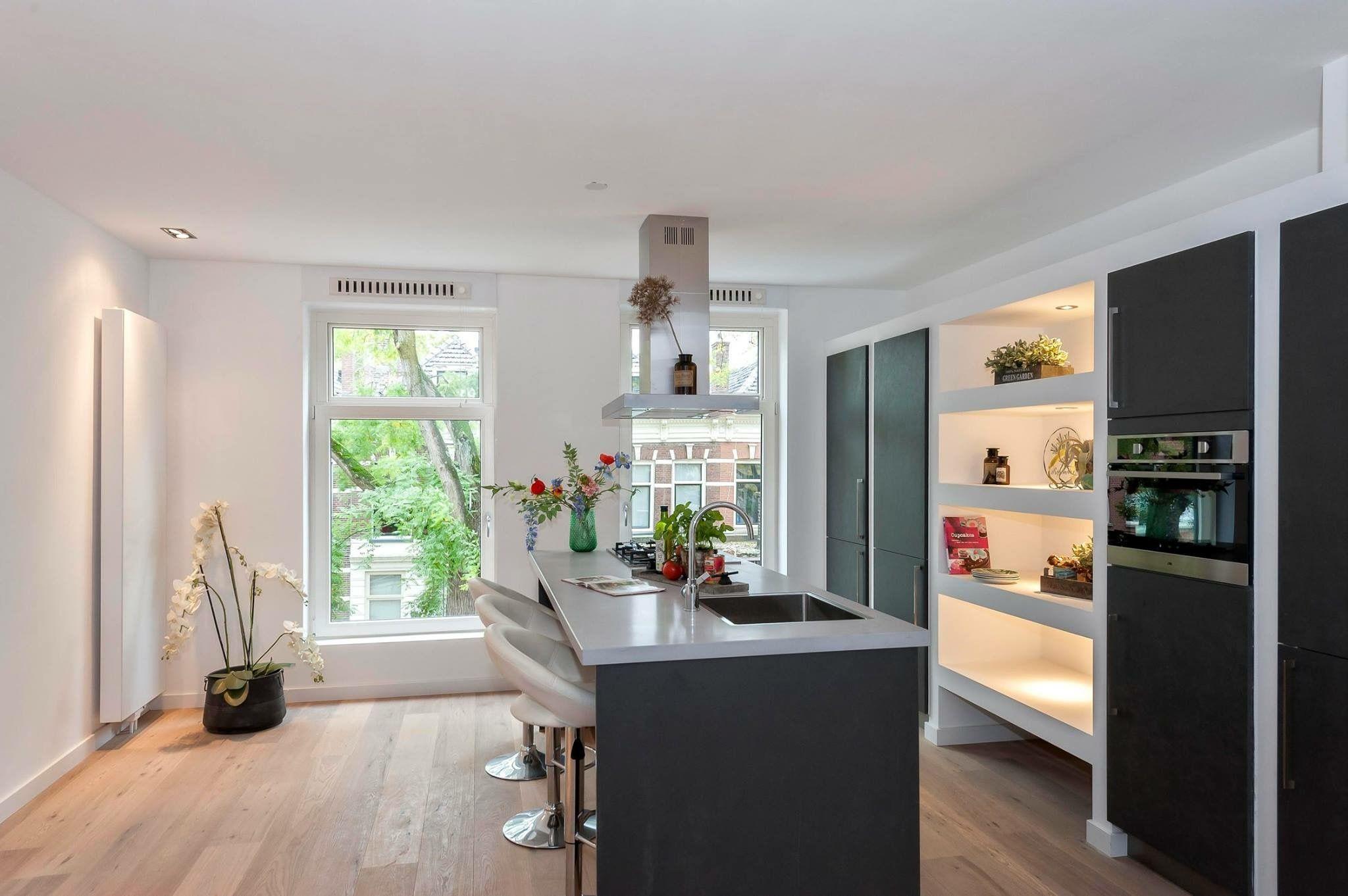 Antraciet Keuken Wit Blad Keuken Idee Keuken