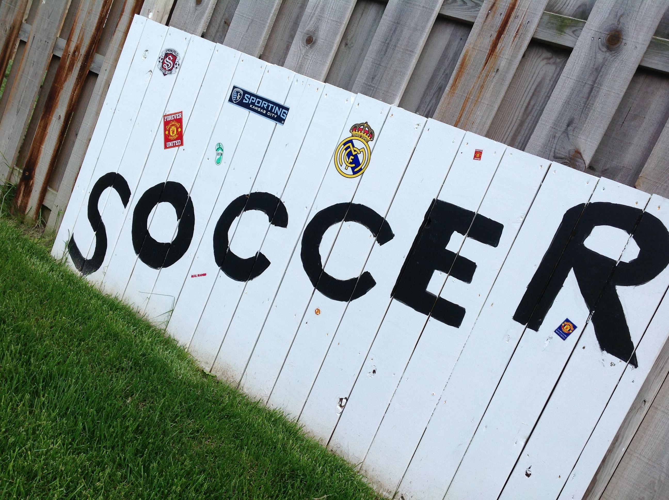 backyard soccer kickboard soccer pinterest backyard