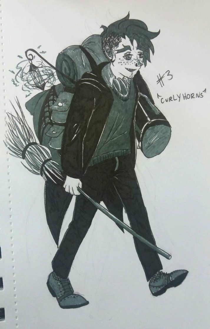 Inktober Day 3 : Vagabond/Merchant Witch by CurlyH0rns.deviantart.com on @DeviantArt