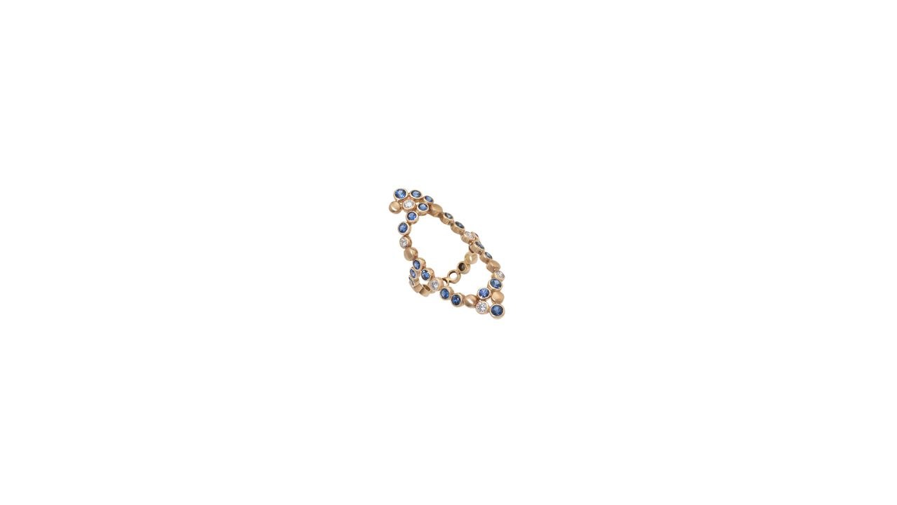 BUBBLES  Ring in 18K yellow gold, set with white & colored diamonds