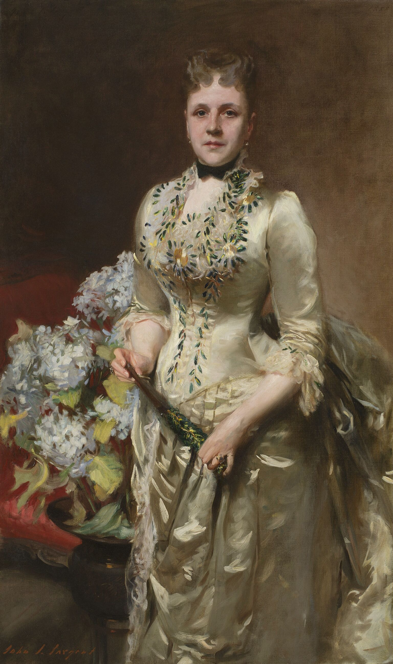 John Singer Sargent (1856–1925), Mrs. Jacob Wendel,1888. Oil on canvas. New-York Historical Society, Gift of the Roger and Susan Hertog Charitable Fund and Jan and Warren Adelson