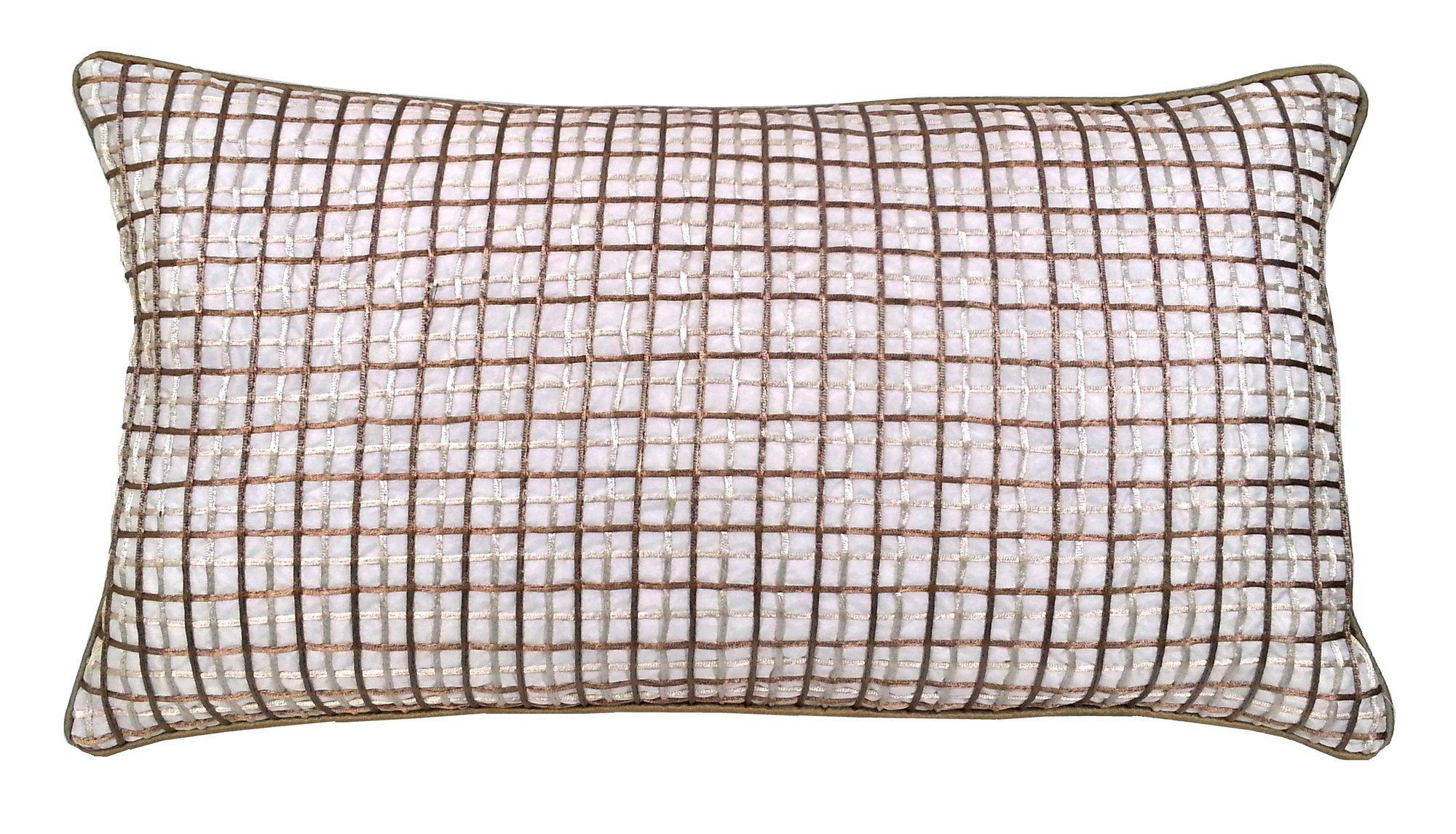 Double grid cord lumbar pillow lumbar pillow cords and pillows