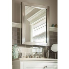 Lowes Medicine Cabinets With Lights Adorable Shop Allen  Roth 2225In X 3025In Rectangle Surface Mirrored Review